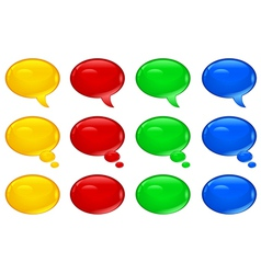 speech symbol color v vector image vector image
