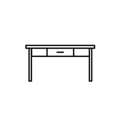 table icon vector image vector image