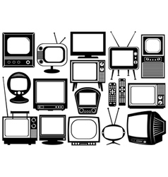 Tv set collage vector image vector image