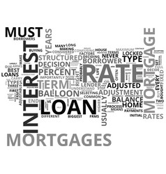 Which mortgage is best for you text word cloud vector