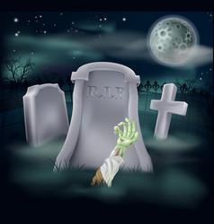 Zombie grave vector