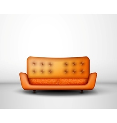 Orange sofa vector