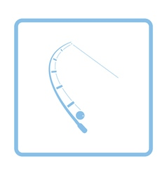 Icon of curved fishing tackle vector