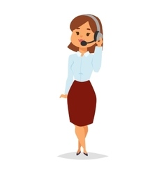 Consultant office professional female adviser girl vector