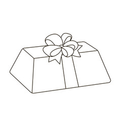 A flesh-colored gift with a red bow sweet present vector