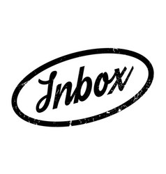 inbox rubber stamp vector image