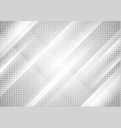 Light grey tech stripes abstract background vector