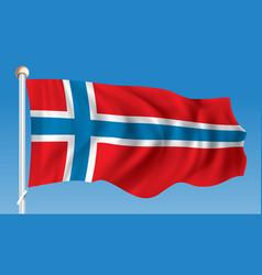 Flag of norway vector