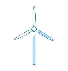 turbine wind sustainable renewable energy vector image