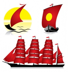 ships vector image