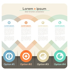 Four columns abstract design layout vector
