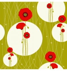 Poppy seamless vector