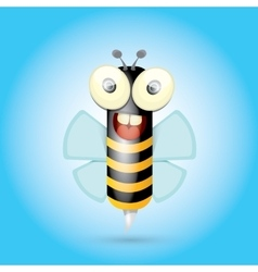 Cartoon cute bright baby bee vector