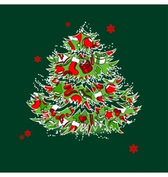 Christmas tree isolated vector