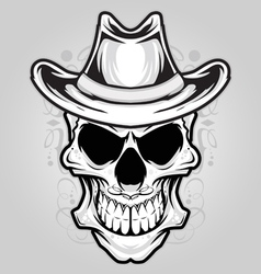 Angry skull ornament vector