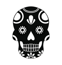 Mexican skull icon simple style vector