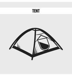 Camping tourist tent vector