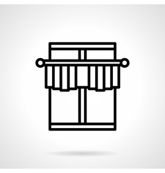 Window decor black line icon vector