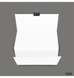 Blank paper brochure mockup vector