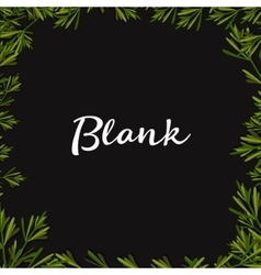 Blank text background with Herbs Flat vector image vector image