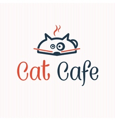 Cat cafe vector