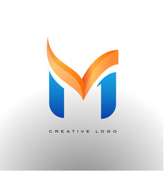 corporate letter m logo vector image