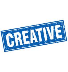 Creative square stamp vector