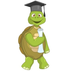 Funny Turtle Student vector image vector image