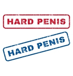 Hard Penis Rubber Stamps vector image vector image