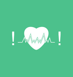 icon heart with cardio vector image