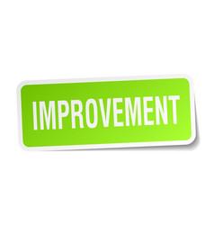 Improvement square sticker on white vector