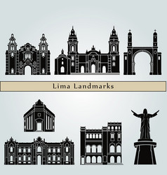 lima landmarks vector image vector image