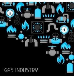 Natural gas production injection and storage vector image