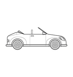 Outline cabriolet roadster car body style icon vector