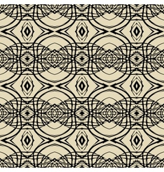 Pattern with thin black lines in art deco style vector