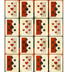poker cards seamless vector image