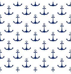 Ship anchor seamless pattern vector