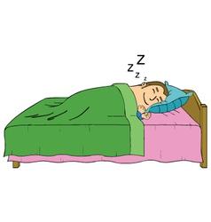 Sleeping man cartoon vector