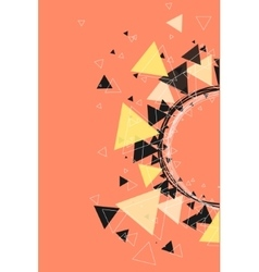 Triangles stars and circle pattern background vector image vector image