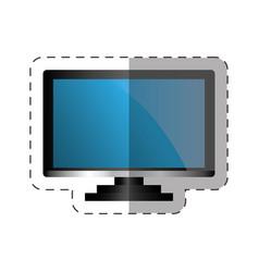 Tv appliance home cut line vector