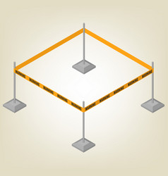 warning tape for fencing isometric vector image