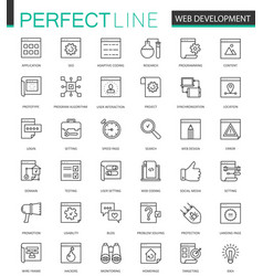 Web development thin line web icons set seo vector