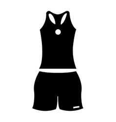 Tennis uniform sport equipment icon vector
