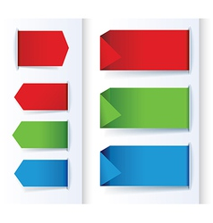 set of colorful arrows and design banners vector image