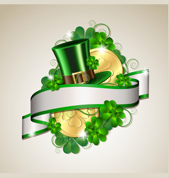 Patrick day card vector