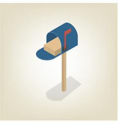 american mailbox isometric vector image