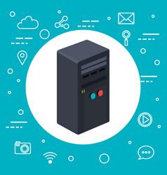 case of computer server workstation technology vector image