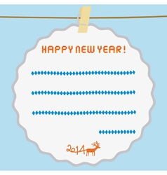 Happy new year 2014 card10 vector