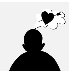 hearts bubble vector image