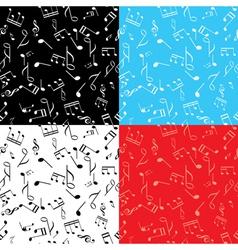 set - seamless music textures vector image